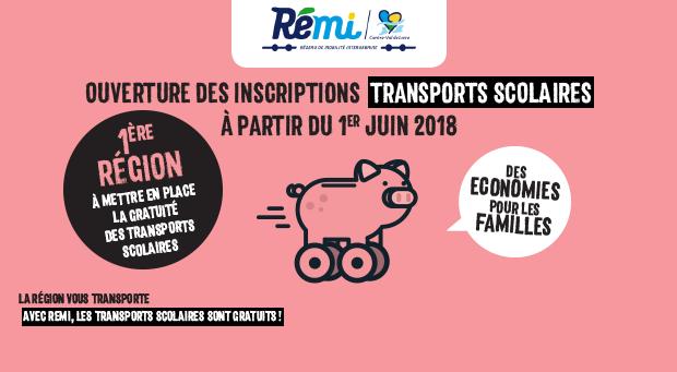 Transports scolaires Rémi : ouverture des inscriptions