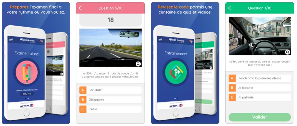 Une nouvelle appli gratuite pour s'entraîner au code de la route
